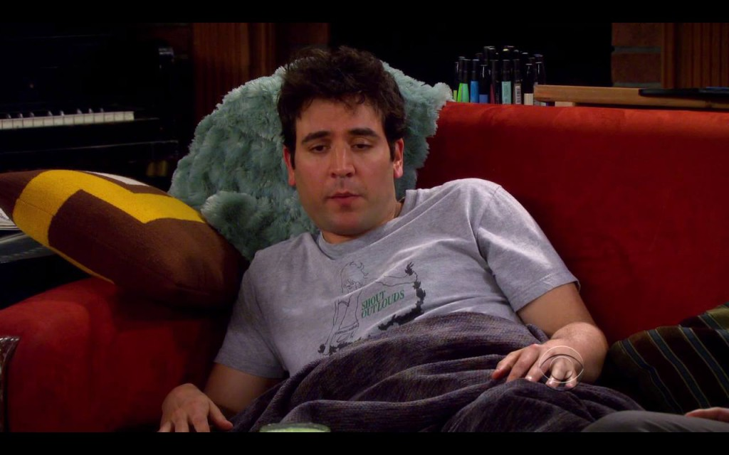 Ted Mosby mit seinem Shout Out Louds Shirt