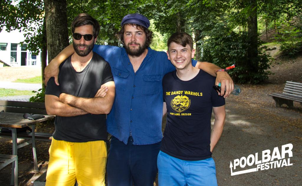 Mit Adam Olenius und Ted Malmros von Shout Out Louds am Poolbar Festival in Feldkirch