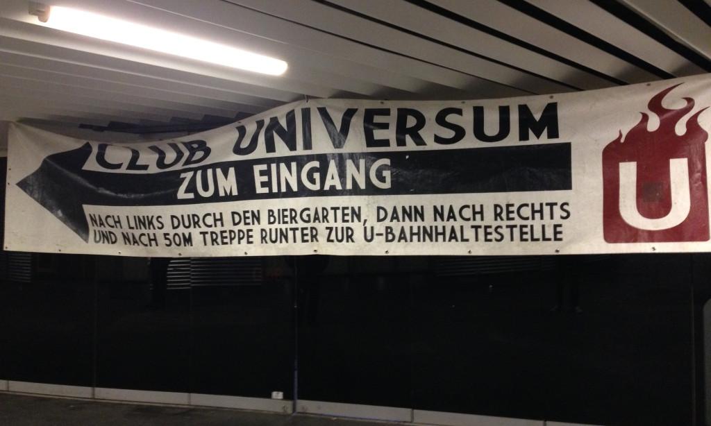 Nicht ganz einfach zu finden –der «Club Universum» in Stuttgart