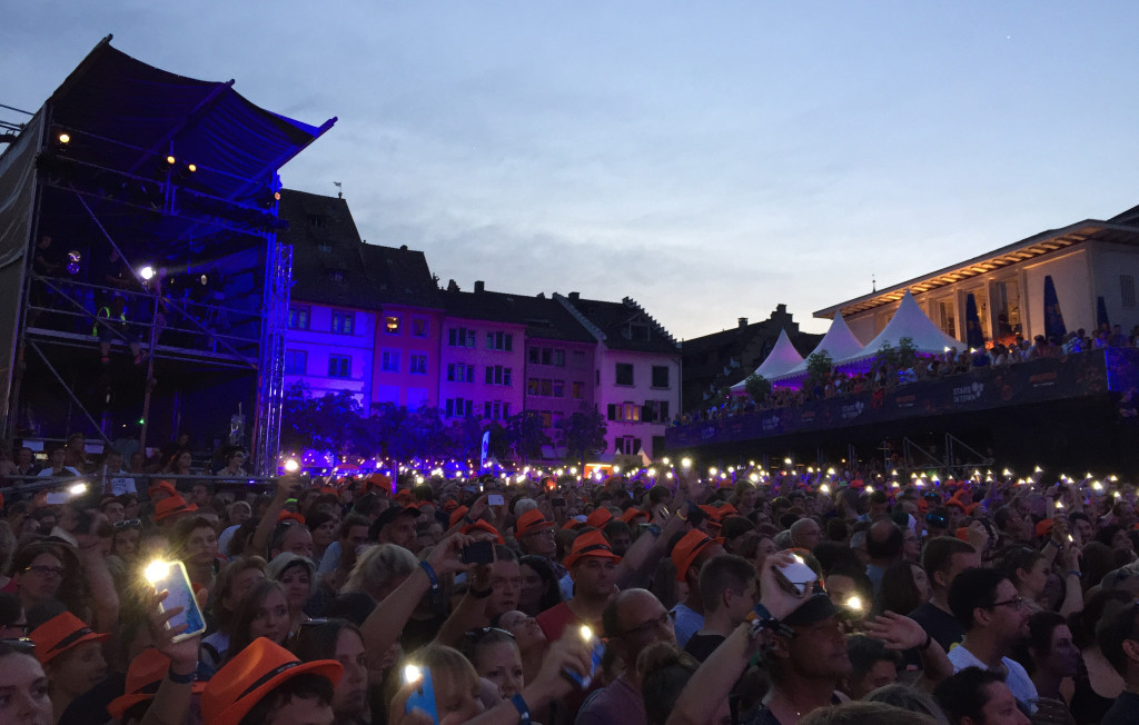 Lichtermeer am Stars in Town 2015 in Schaffhausen